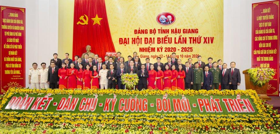 Đại hội đại biểu Đảng bộ tỉnh Hậu Giang lần thứ XIV thành công tốt đẹp