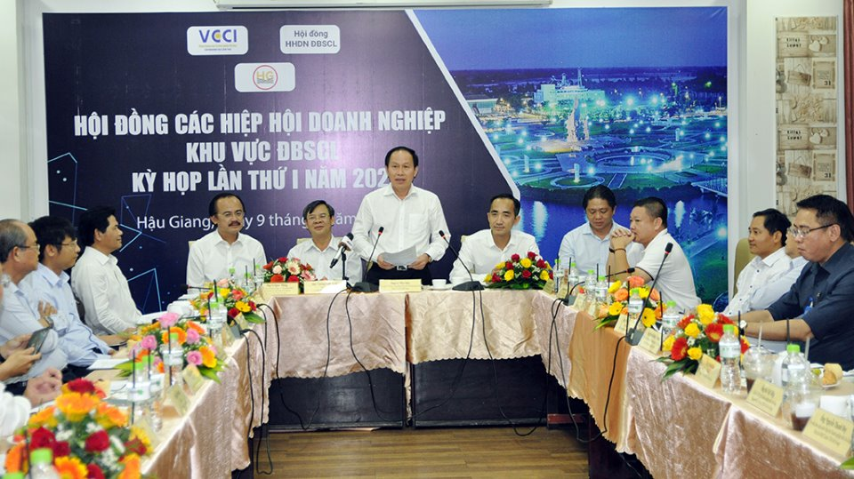 Hiệp hội Doanh nghiệp khu vực ĐBSCL họp kỳ đầu tiên năm 2021 tại Hậu Giang